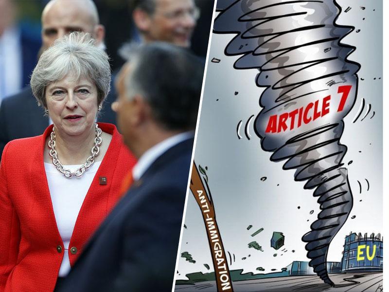Theresa May in tornado zaradi migracij