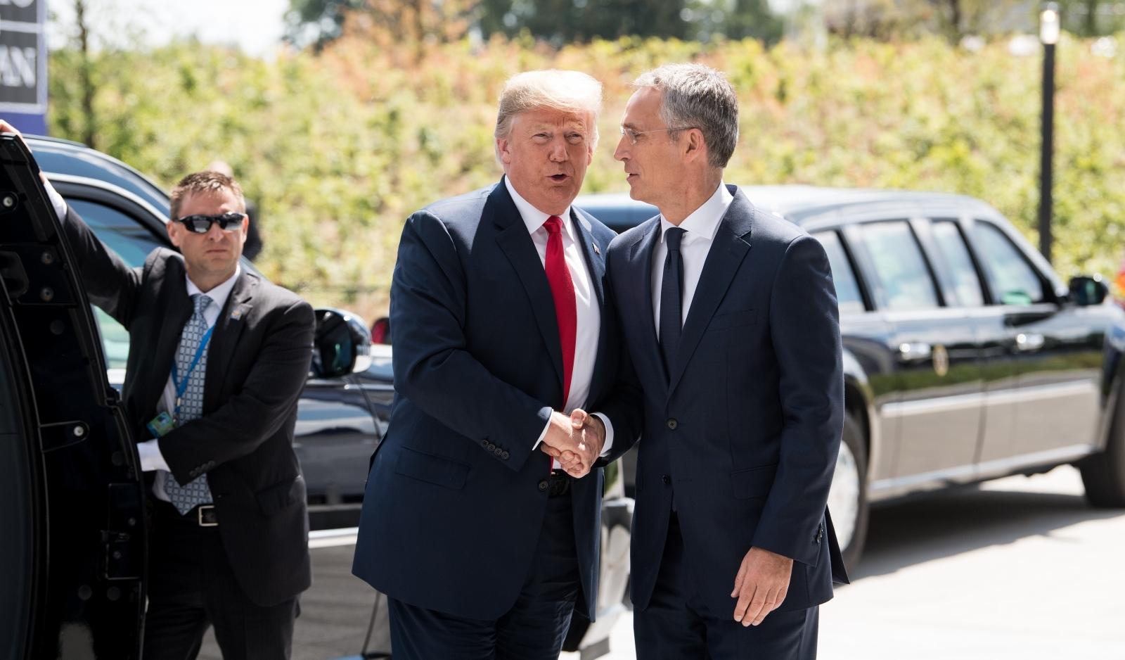Trump-Stoltenberg  NATO, Bruselj 2018   Vir: Pixell