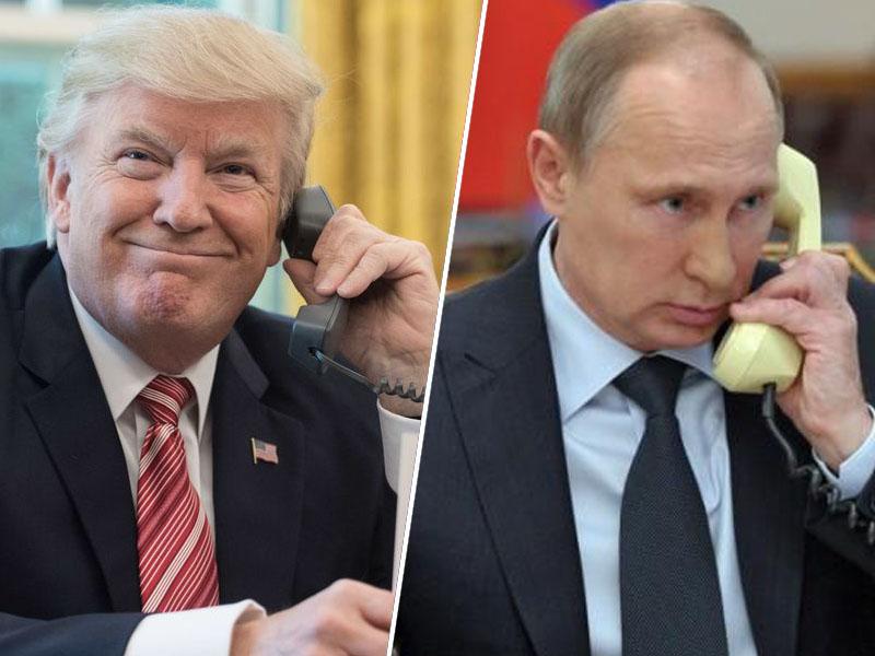 Donald Trump in Vladimir Putin