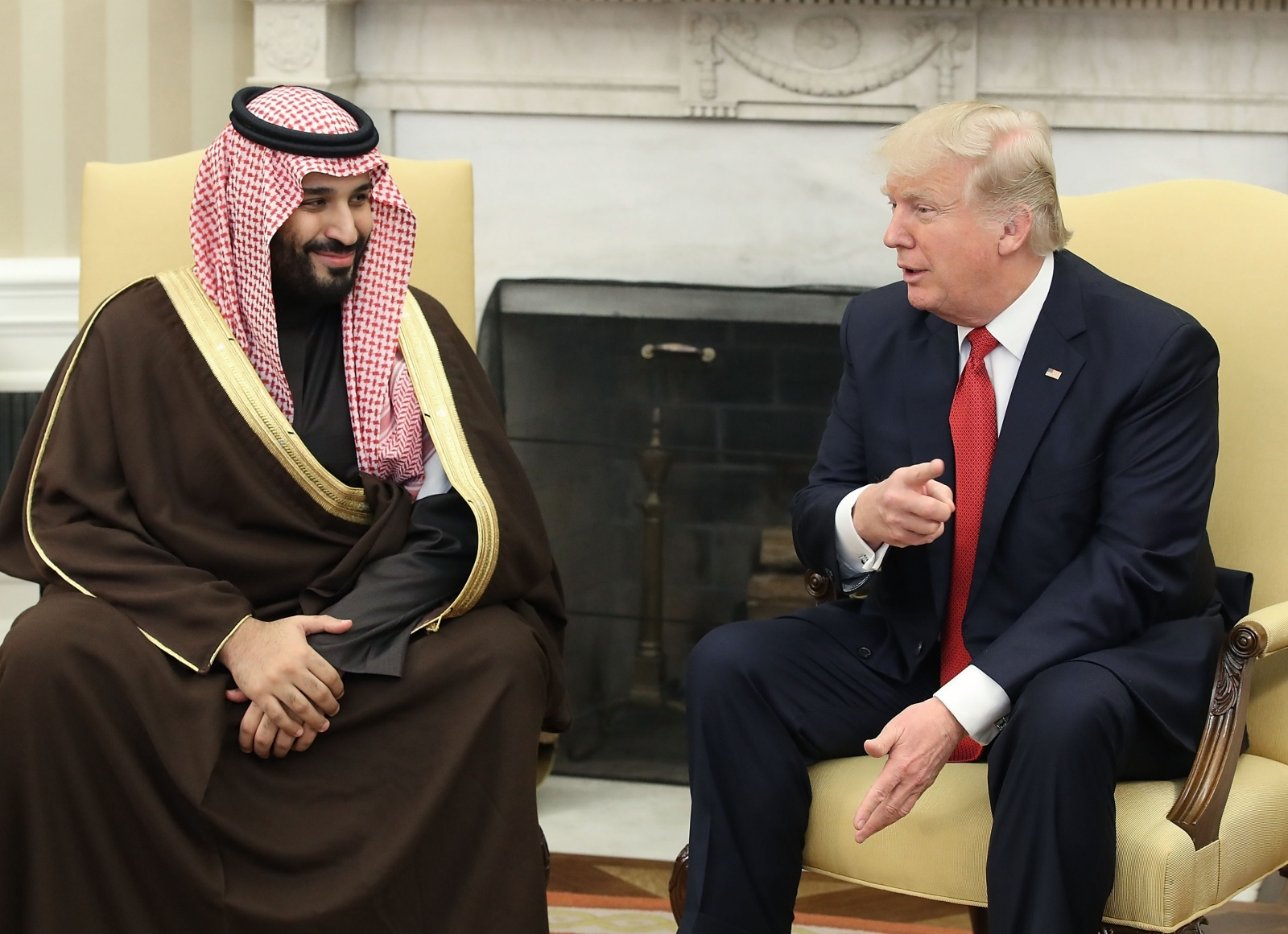 Mohamed bin Salman in Donald Trump Vir:Pixell