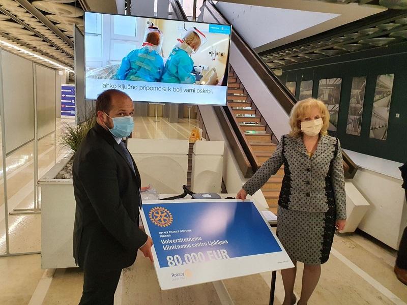 Rotary donacija za UKC Ljubljana