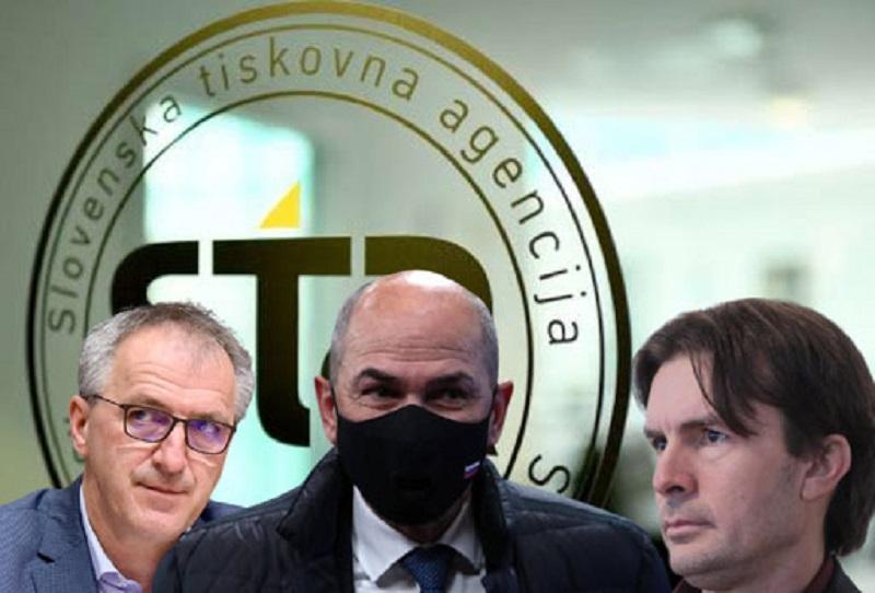 Janša in Urbanija proti STA in Veselinoviču