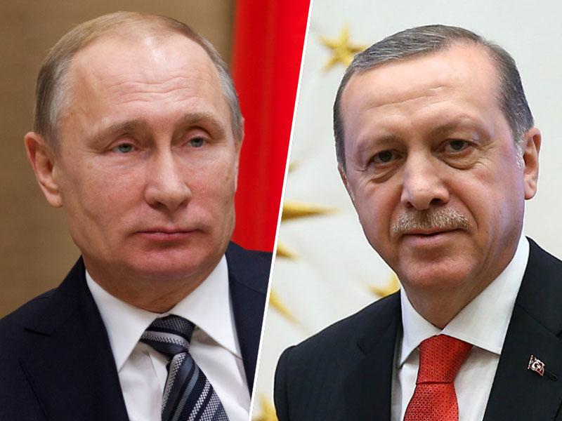 Vladimir Putin in Recep Tayyip Erdogan