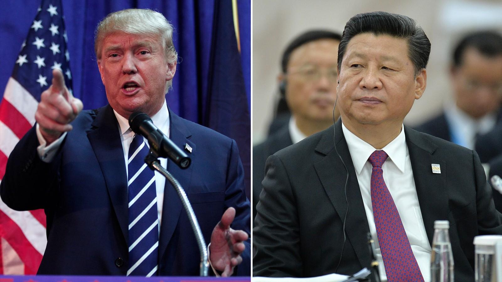 Ameriški predsednik Donald Trump in Kitajski Predsednik Xi Jinping