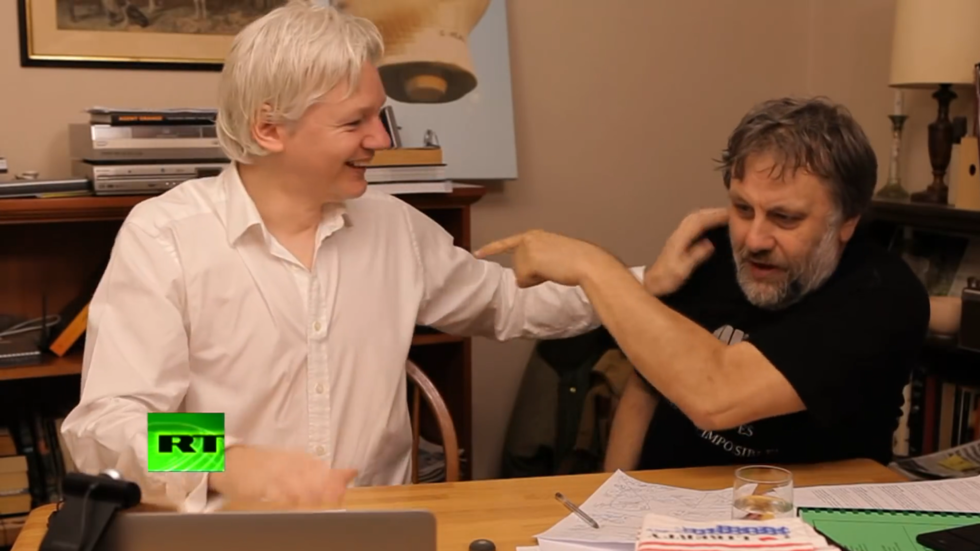 Žižek in Assange Vir: RT