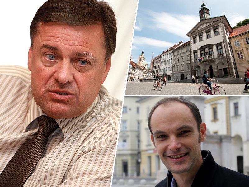Zoran Jankovič, Anže Logar in Mestna hiša