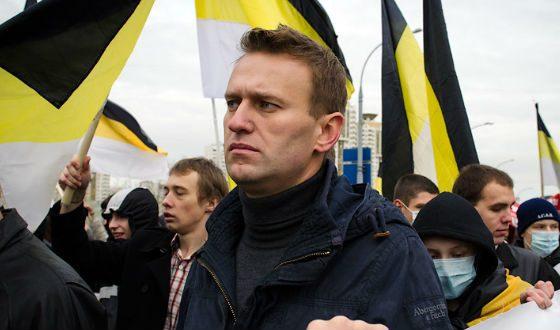 Aleksej Navalni ob zastavi ruskega imperija  Vir:Twitter