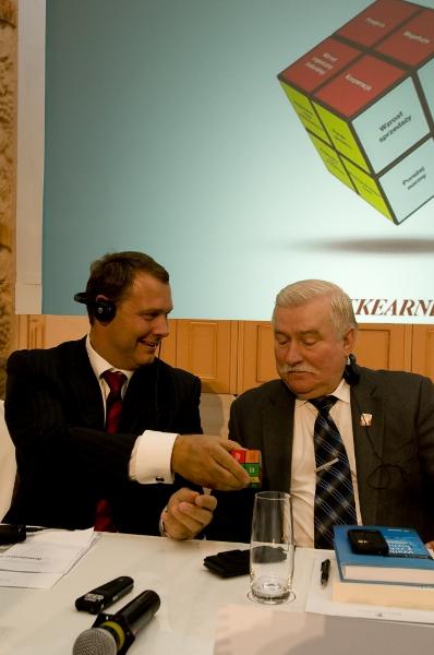 Andrej Vizjak in Lech Walesa