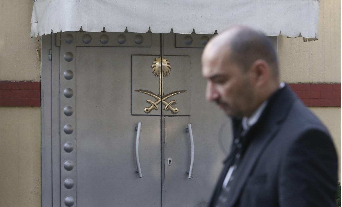 Vhod v savdijski konzulat v Istanbulu Vir:CNN