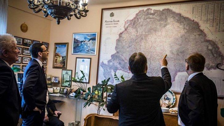 Zemljevid - Viktor Orban in Velika Madžarska