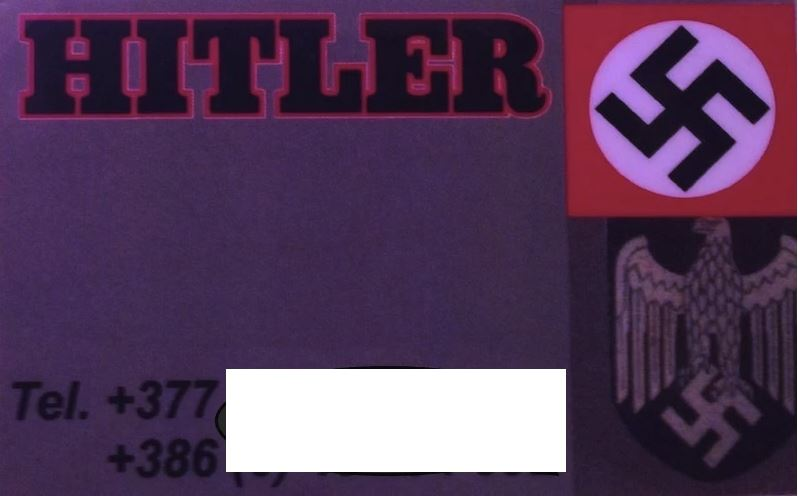 Vizitka - Hitler