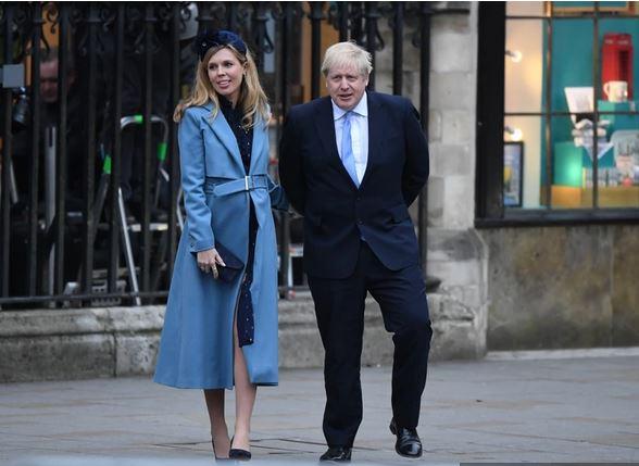 Carrie Symonds in Boris Johnson. Vir: Twitter