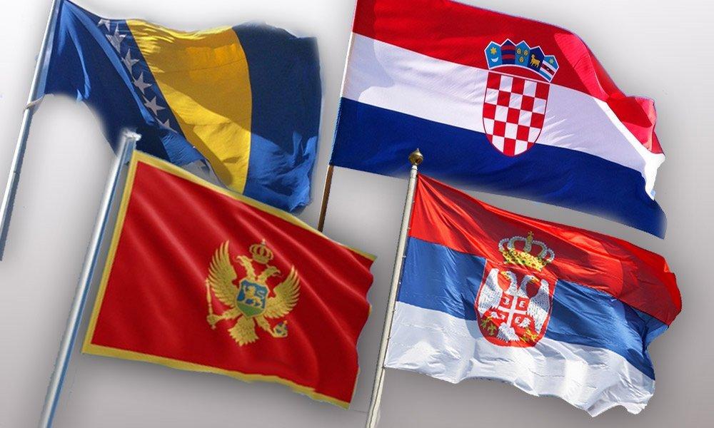 Bosanski, črnogorski, hrvaški in srbski jezik - zastave držav Vir:Tportal