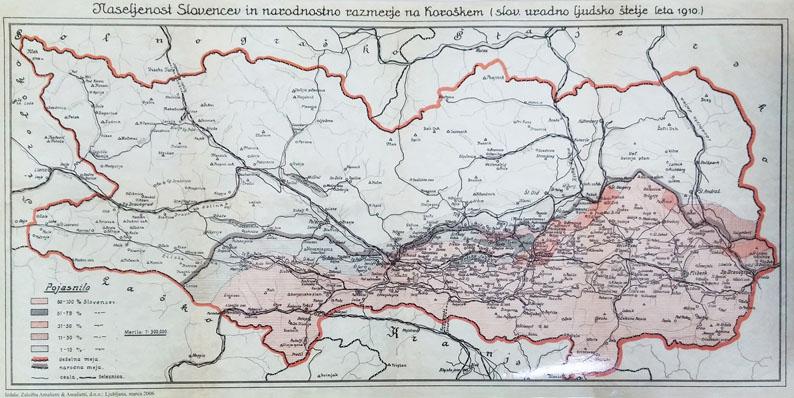 Zemljevid Slovencev, Koroška