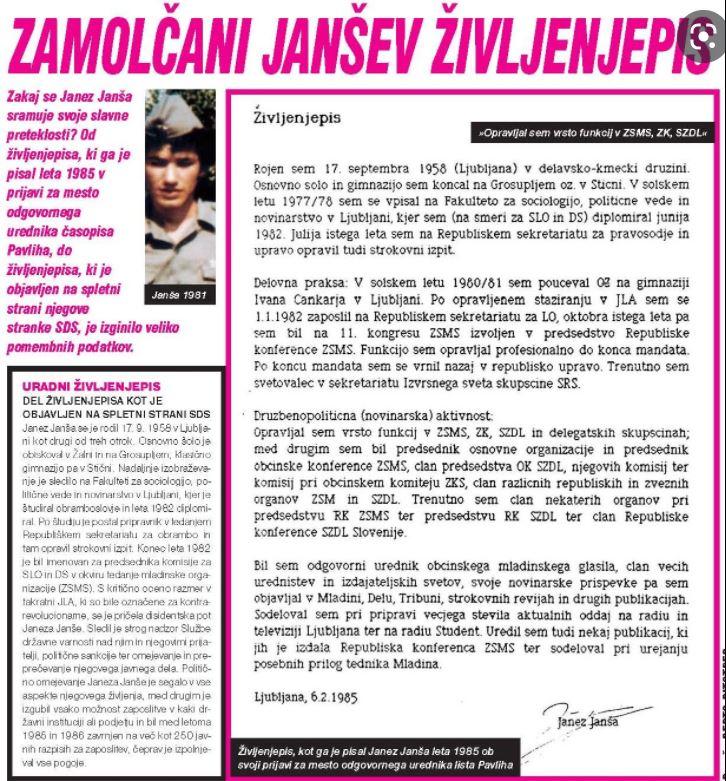 Življenjepis Janše