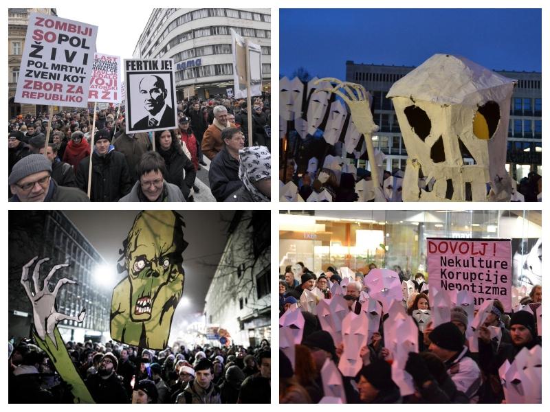Zombiji - protesti v Sloveniji 2013