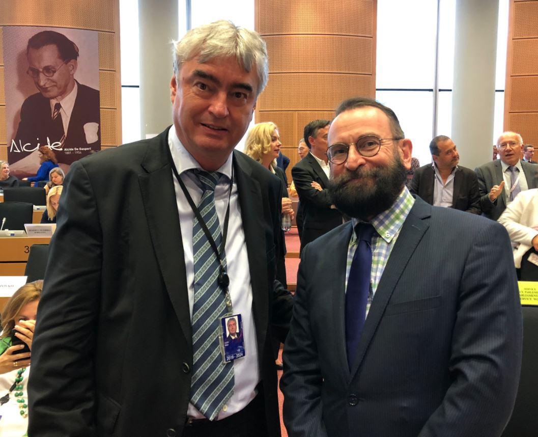 Milan Zver in József Szájer. Vir: Twitter